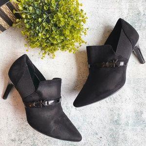 Calvin Klein Jaclyn Suede Booties, Black Sz 6